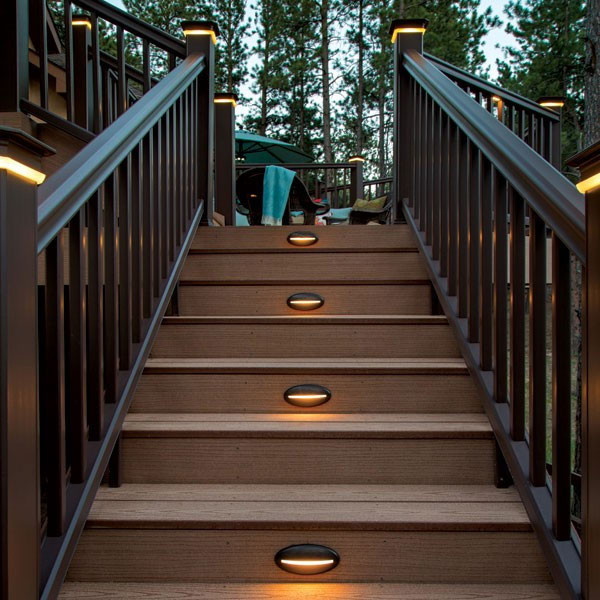 DeckLites LED Riser Light By TimberTech   Architectural Bronze