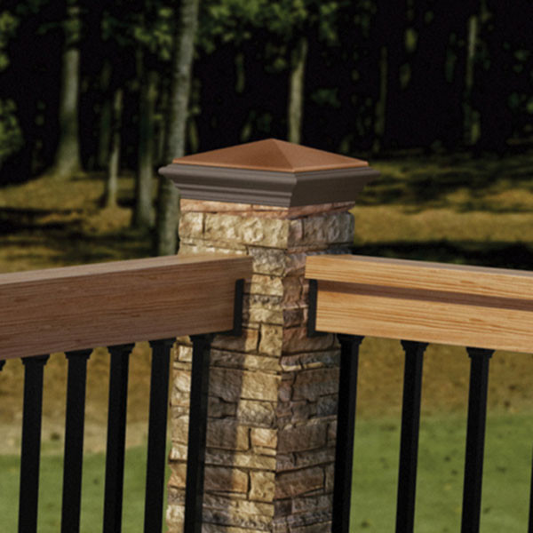Cast Stone Post Cover By Deckorators Decksdirect