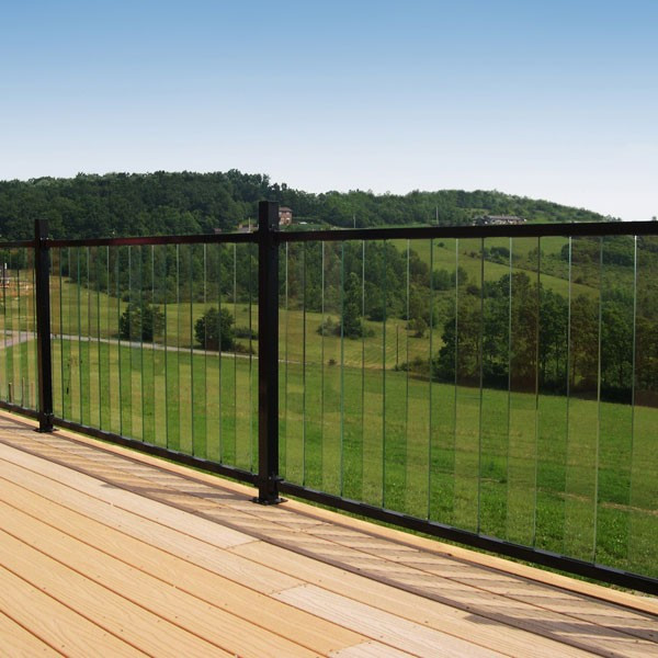 Al13 aluminum rails for pure view glass rail by fortress for Fortress fence design