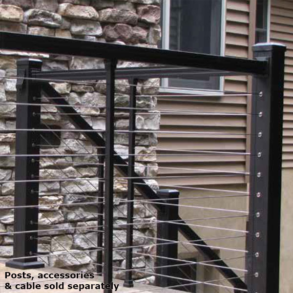 cable railing kit for stairs kits wood posts rail sold separately indoor