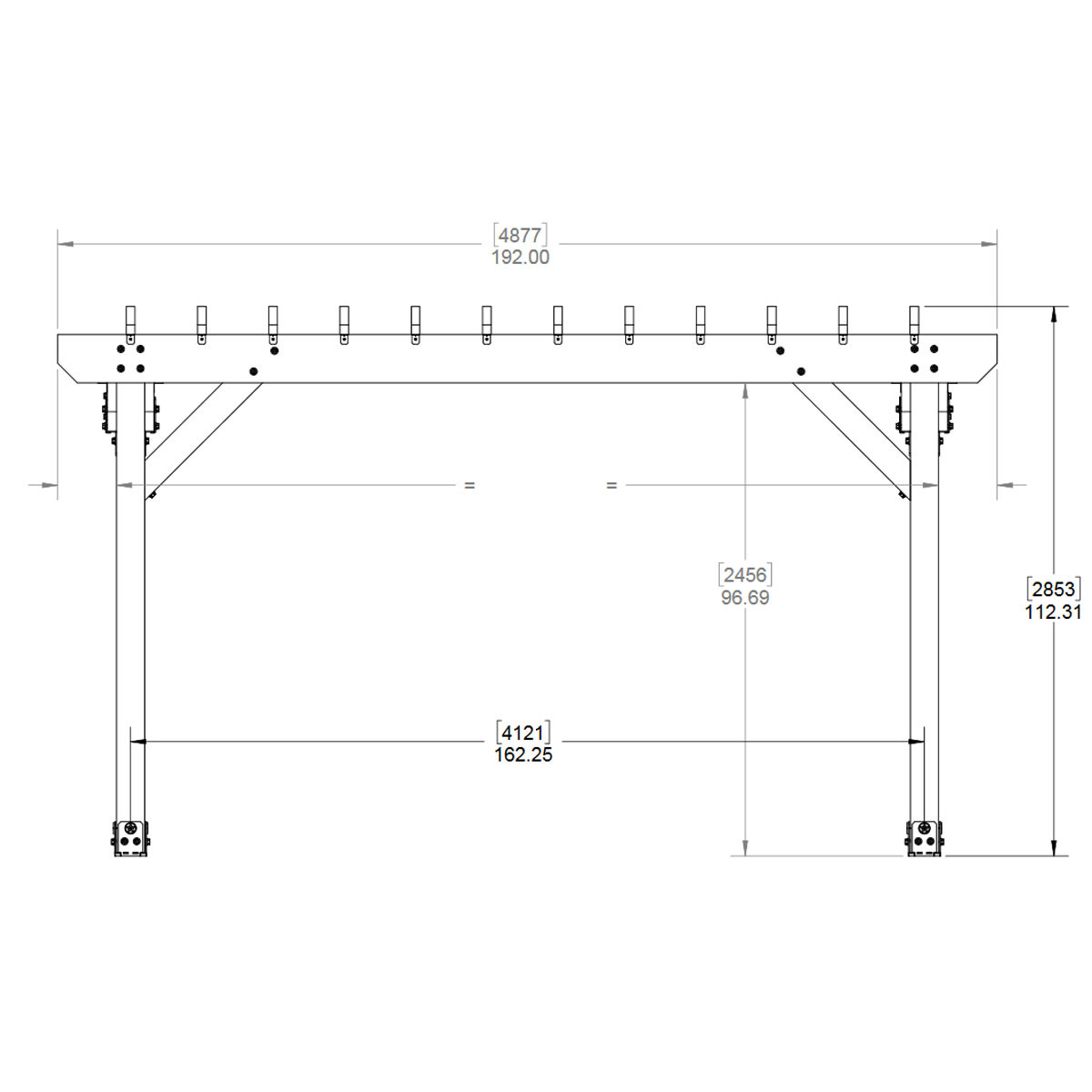 Ozco Project Kit  Deck Pergola With 6x6 Posts