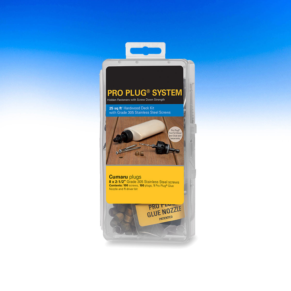 100 pc Component Pack Plugs Only 5//16 Diameter for IPE PRO-PLUG System