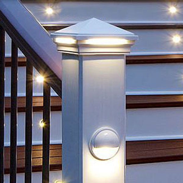 Pyramid Led Post Cap Light By Trex Lighting Decksdirect