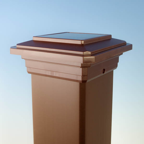 Solar Post Cap Light For Trex Transcends Post Sleeves By