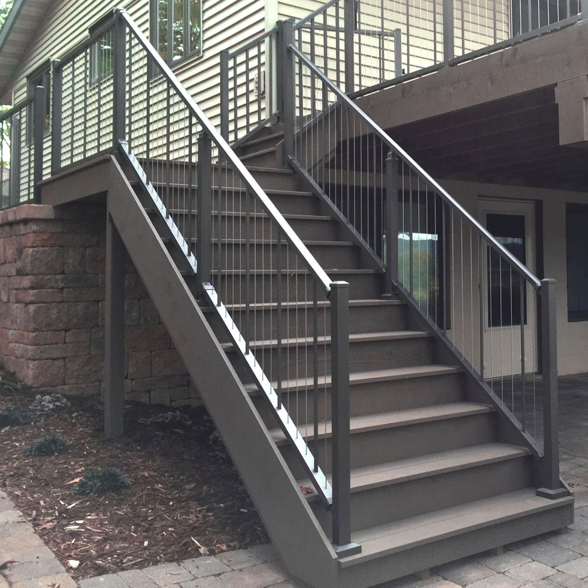 VertiCable Stair Rail Section Kits By Westbury Aluminum
