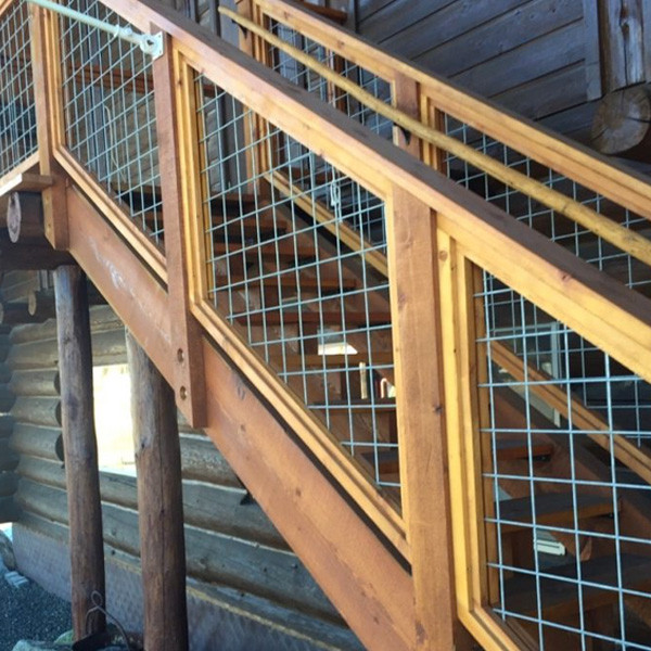 Welded Mesh Stair Fence Rail Panels By Wild Hog Railing