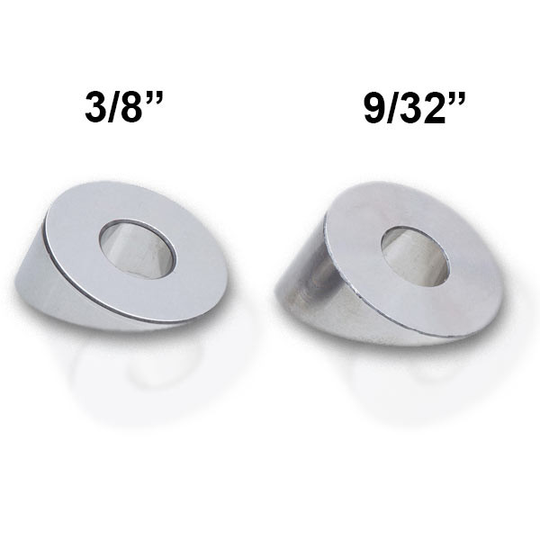 Choose from the 3/8 in or 9/32 in beveled washer size to complete your 1/8 inch thick Feeney CableRail setup.