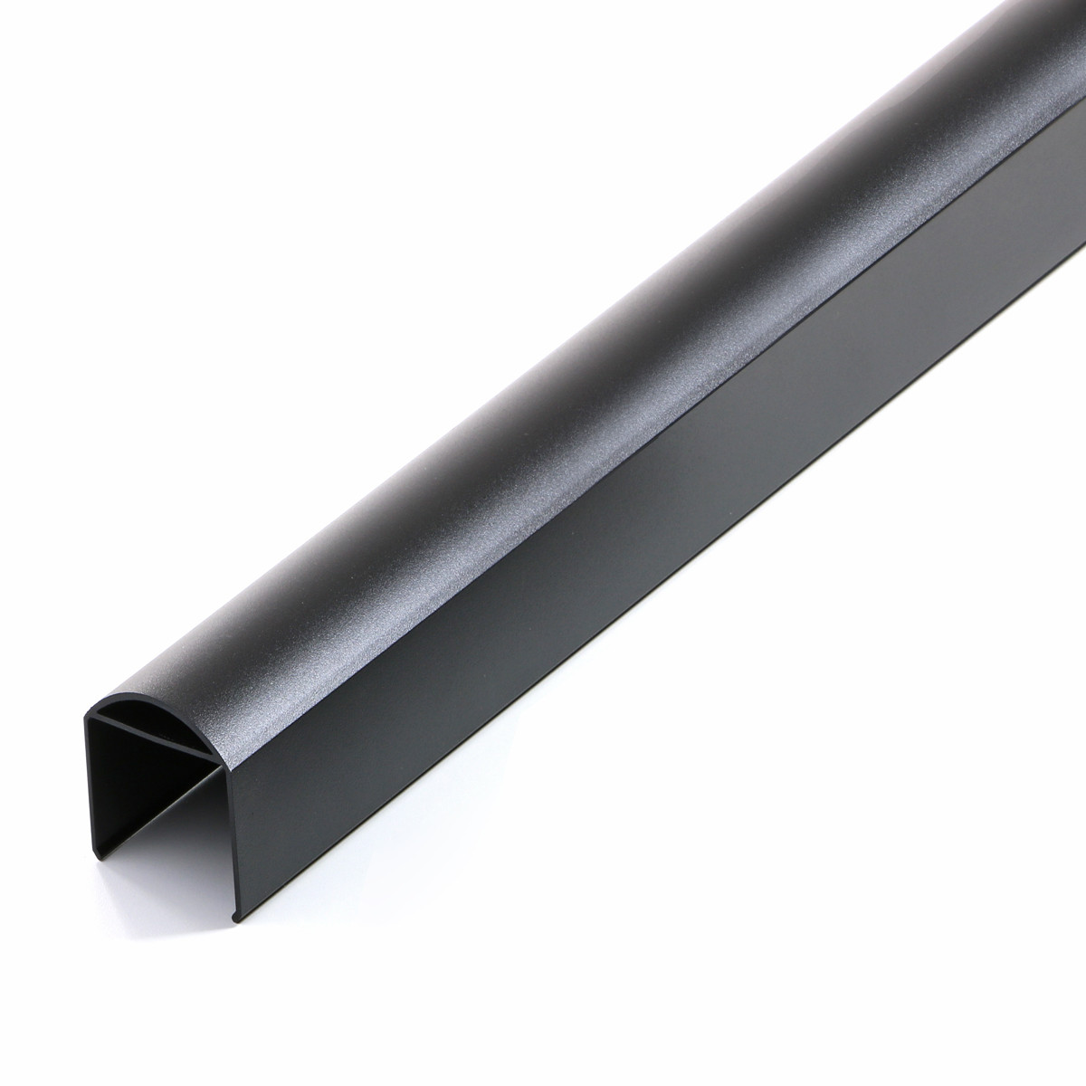 The Fortress AL13 Home Round Accent Top Rails are available in a Black Sand finish.