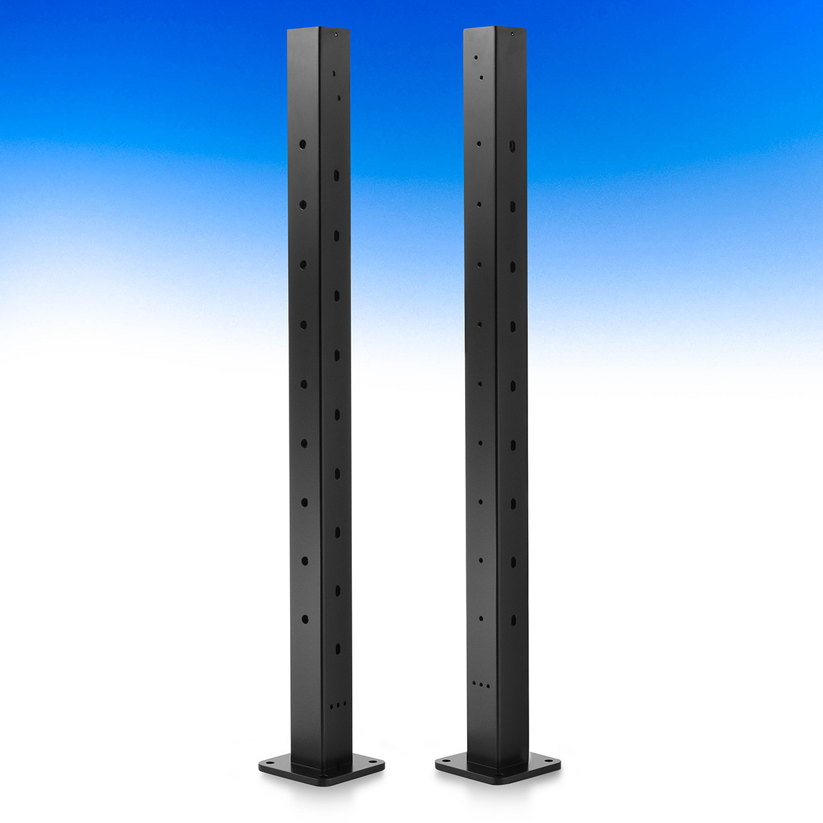 DesignRail Aluminum Newel Post Kit by Feeney - Black - Right Side Newel Quick-Connect Post Kit - 36 in
