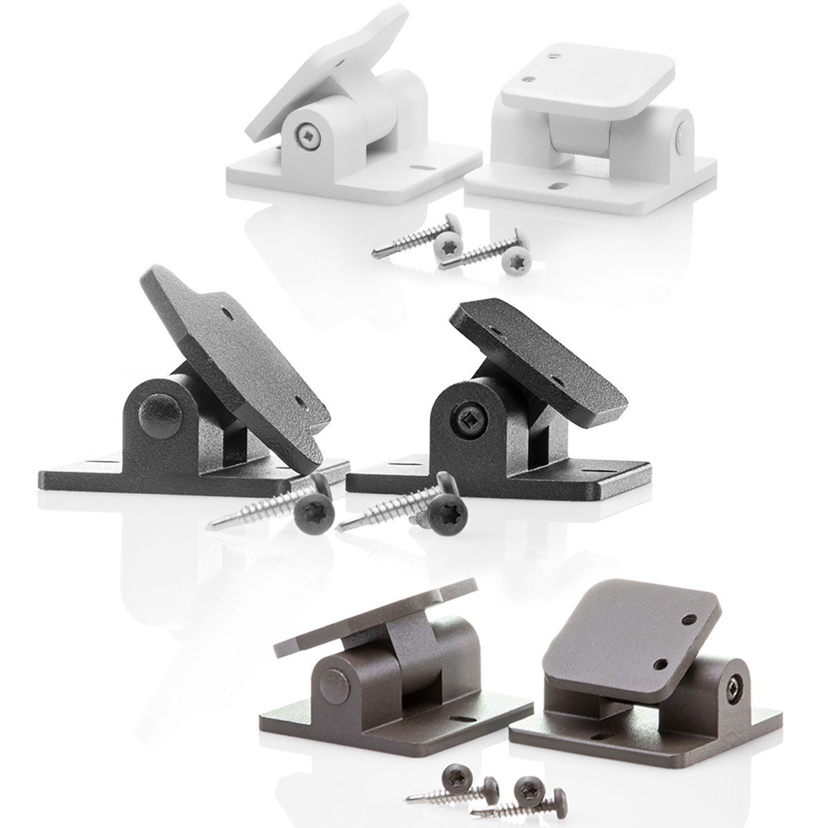 The AFCO Pro Level Rail Adjustable Angle Bracket Kit includes a swiveling top rail and bottom rail bracket.