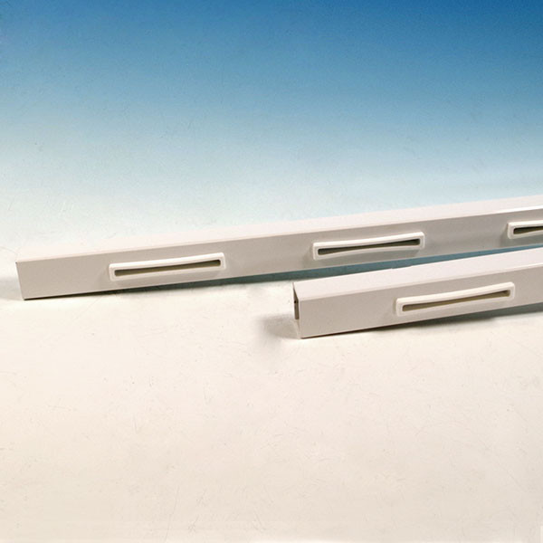 AL13 Aluminum Rails for Pure View Glass Rail by Fortress - Gloss White