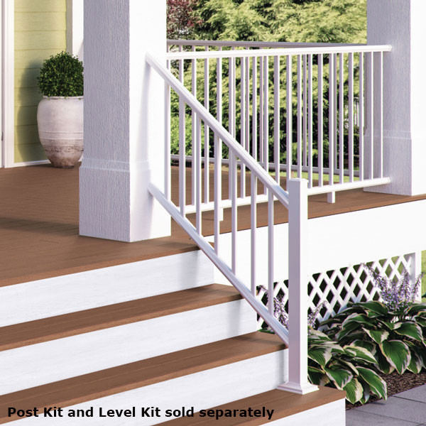 ALX Classic Complete Stair Railing Kit By Deckorators   Posts Sold  Separately   Textured White