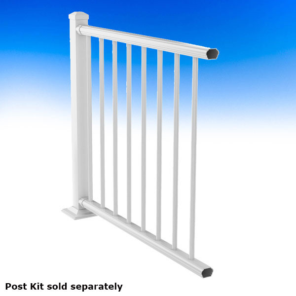 Deckorators ALX Classic Complete Level Railing Kit - Textured White