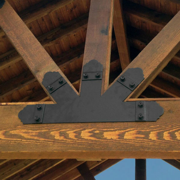 10:12 Truss Base Fan by OZCO Ornamental Wood Ties