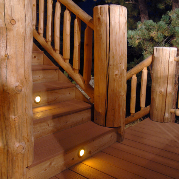 Berkley Recessed LED Riser Light by Highpoint Deck Lighting - installed