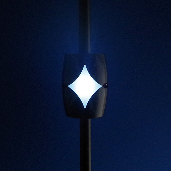 Solar Baluster Light by Deckorators