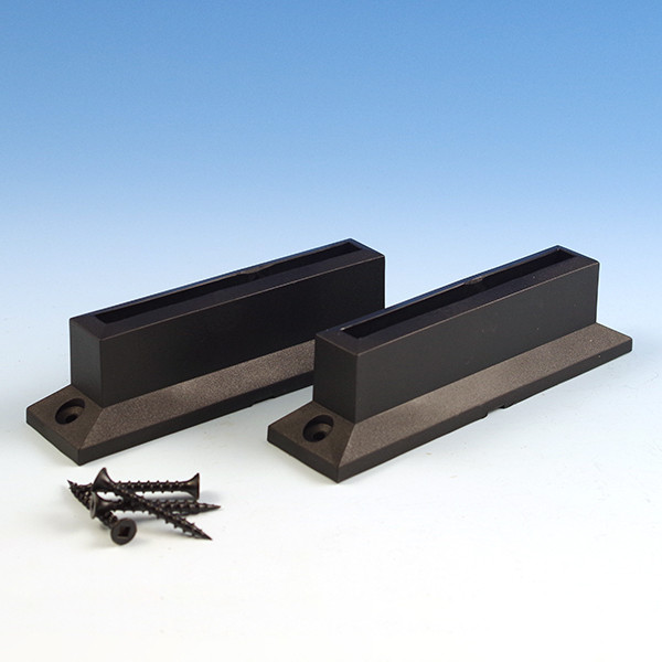 Level Glass Baluster Connectors by Deckorators - Package Contents - Black