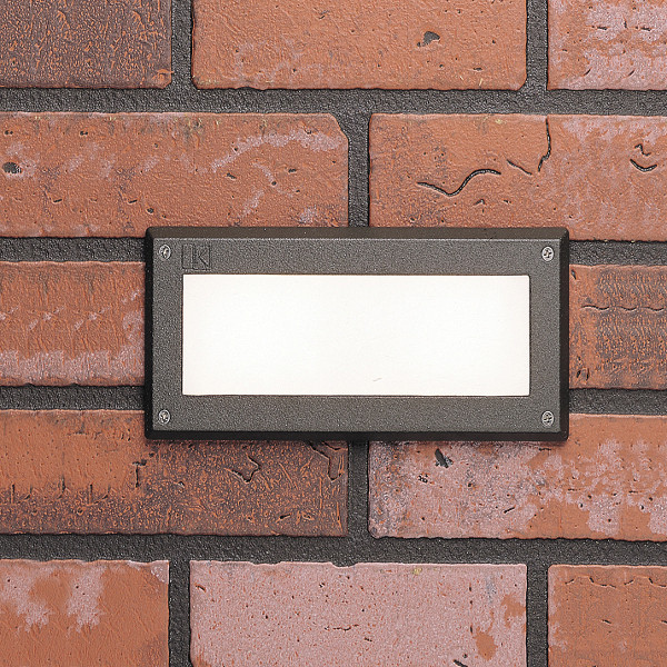 Kichler Acrylic Lens Brick Light-Textured Architectural Bronze