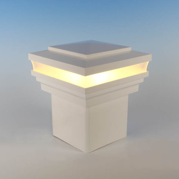 Cape May Low Voltage LED Post Cap Light by LMT Mercer - Warm (3k) - White
