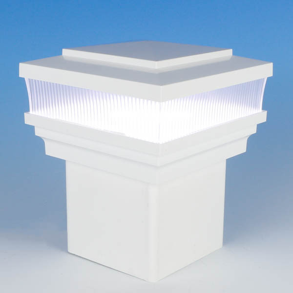 Cape May Scallop Lens Low Voltage LED Post Cap Light by LMT Mercer - Cool (5k) - White