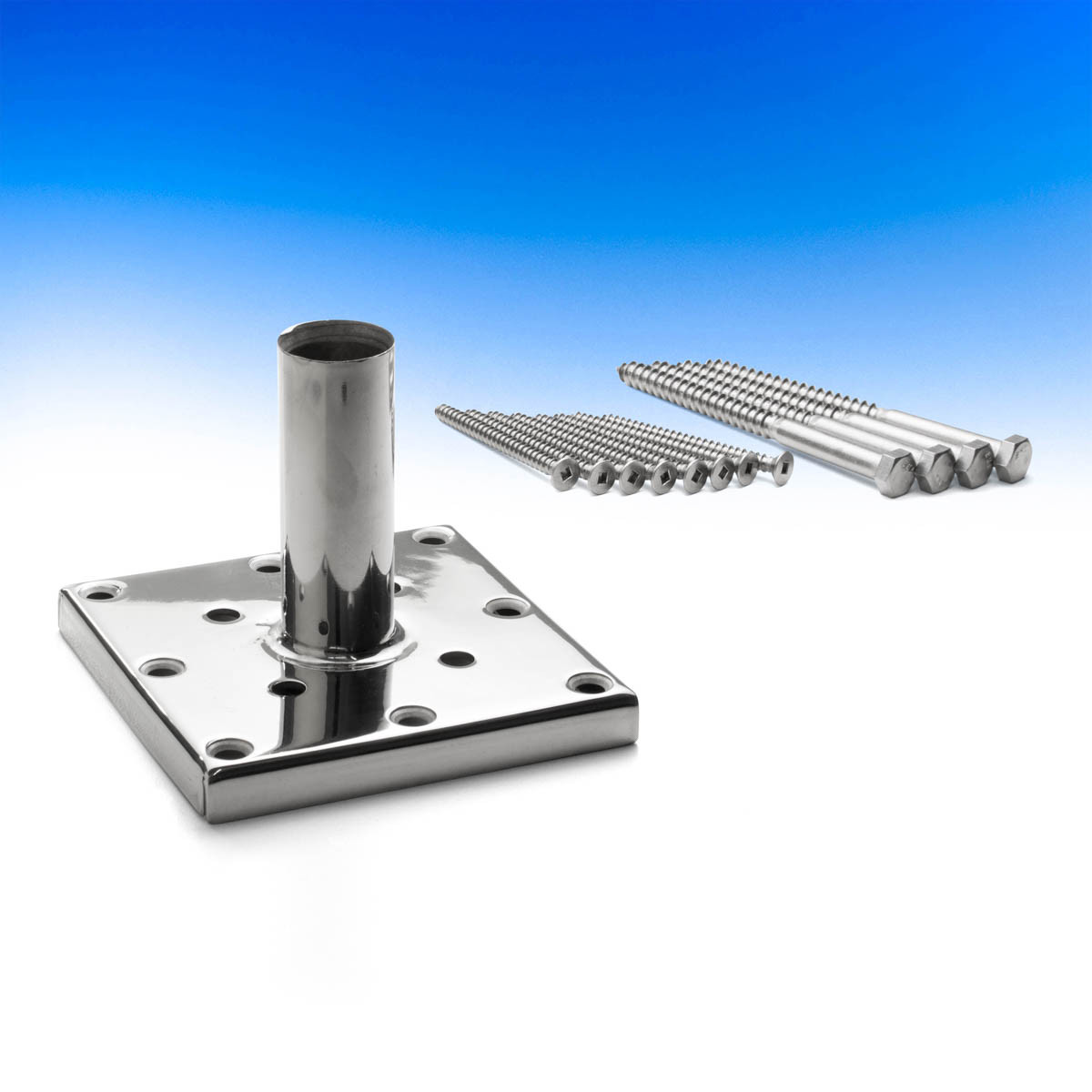 Stainless Steel Titan Post Anchor - 4 x 4 inch - Package Contents