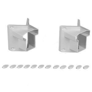 T-Rail 45 Degree Classic Bracket Set by Durables - Set of 2