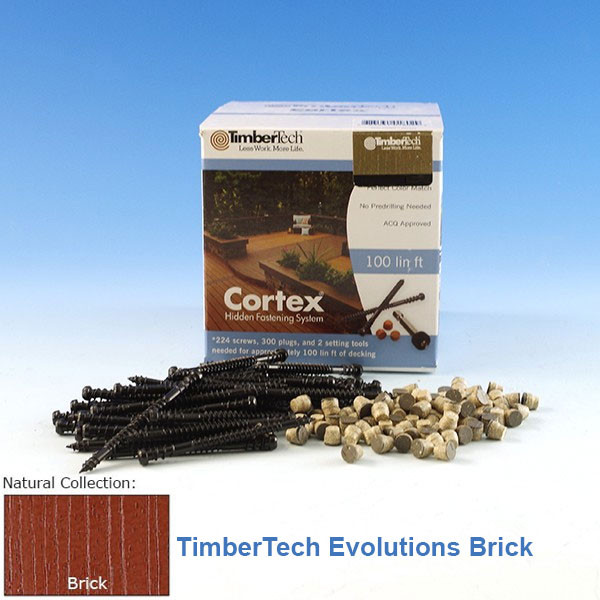 Cortex Concealed Fastening System for TimberTech Evolutions Decking-224 pc-TimberTech - Brick