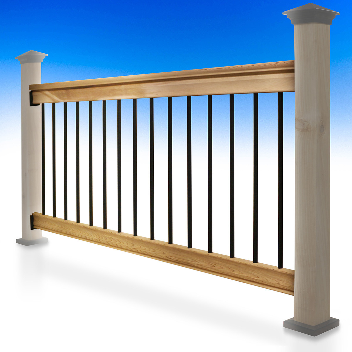 Traditional Deck Railing Kit by Vista - Installed - 36 in - Sample