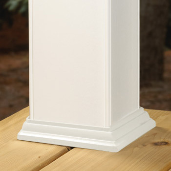 Classic Post Skirt for DecKorators CXT Rail System - White