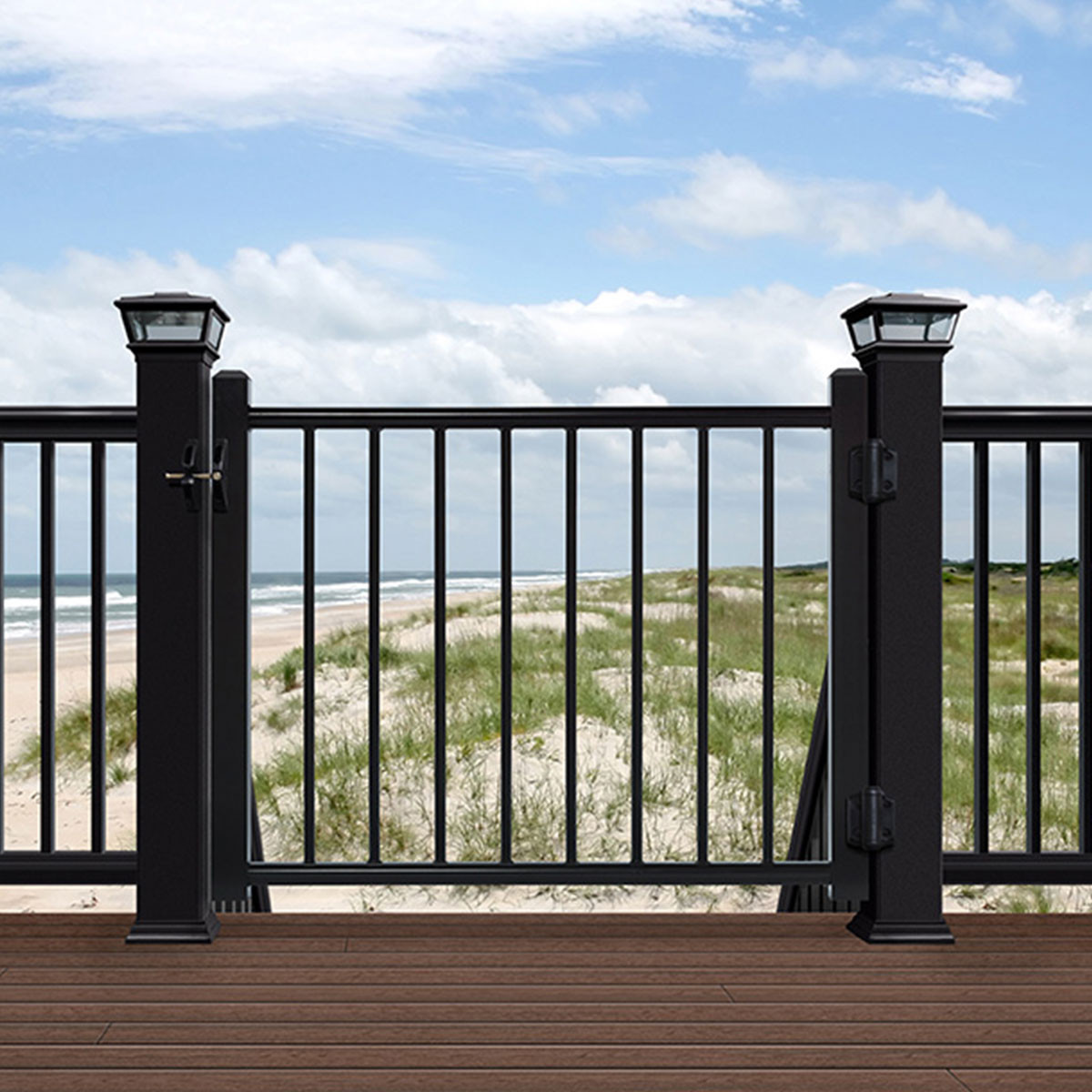 Deckorators ALX Classic Gate - Satin Black - Installed