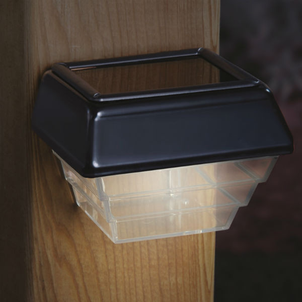 Solar Pathway and Stair Lights by Deckorators - 2 Pk-Black-3-5/8 in