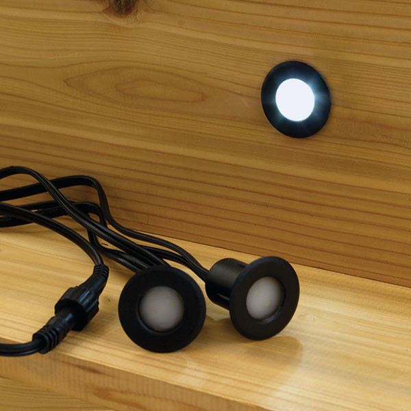 Lighting Basement Washroom Stairs: Recessed LED Riser Light By Deckorators