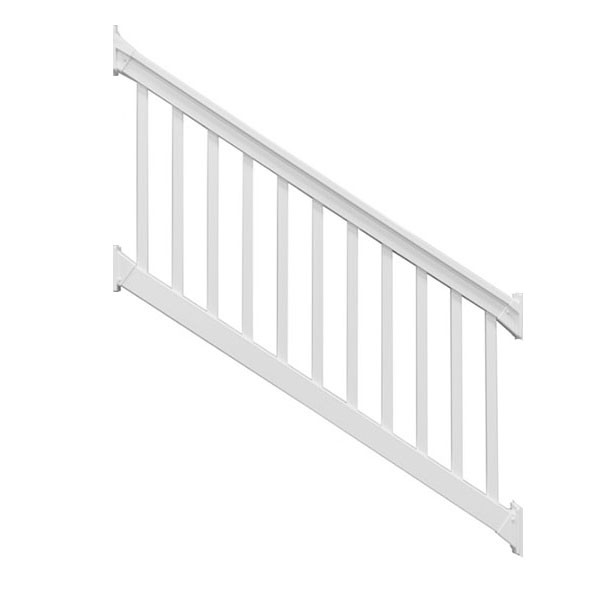 The Brighton Classic Vinyl Stair Rail Kit by Durables - White