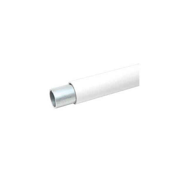 Handrail Pipe for Durables Secondary Handrail - Exterior PVC (White) with interior aluminum stiffener