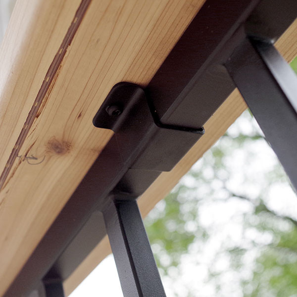 FE26 Iron Cap Rail Clip by Fortress - Installed with deck board
