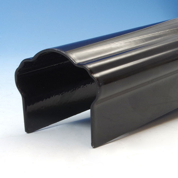 FE26 Colonial Accent Round Top Rail by Fortress - Gloss Black