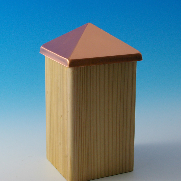 Aluminum Post Point by Deckorators - Copper - 3-5/8 inch