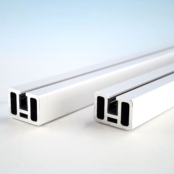 AL13 Aluminum Rails for Pure View Full Glass Panel by Fortress - Gloss White