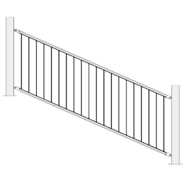 FE26 Iron Stair Vertical Cable Railing Panel by Fortress