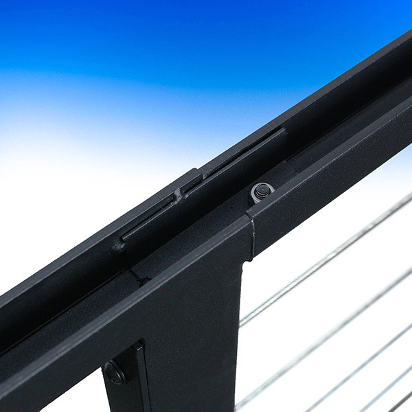 FE26 Stair Panel for Horizontal Cable Railing by Fortress