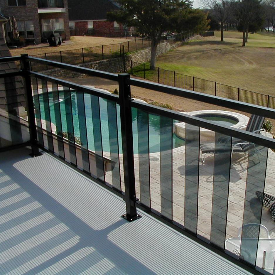Pure View Glass Balusters by Fortress Iron-34 in-Clear-Stair