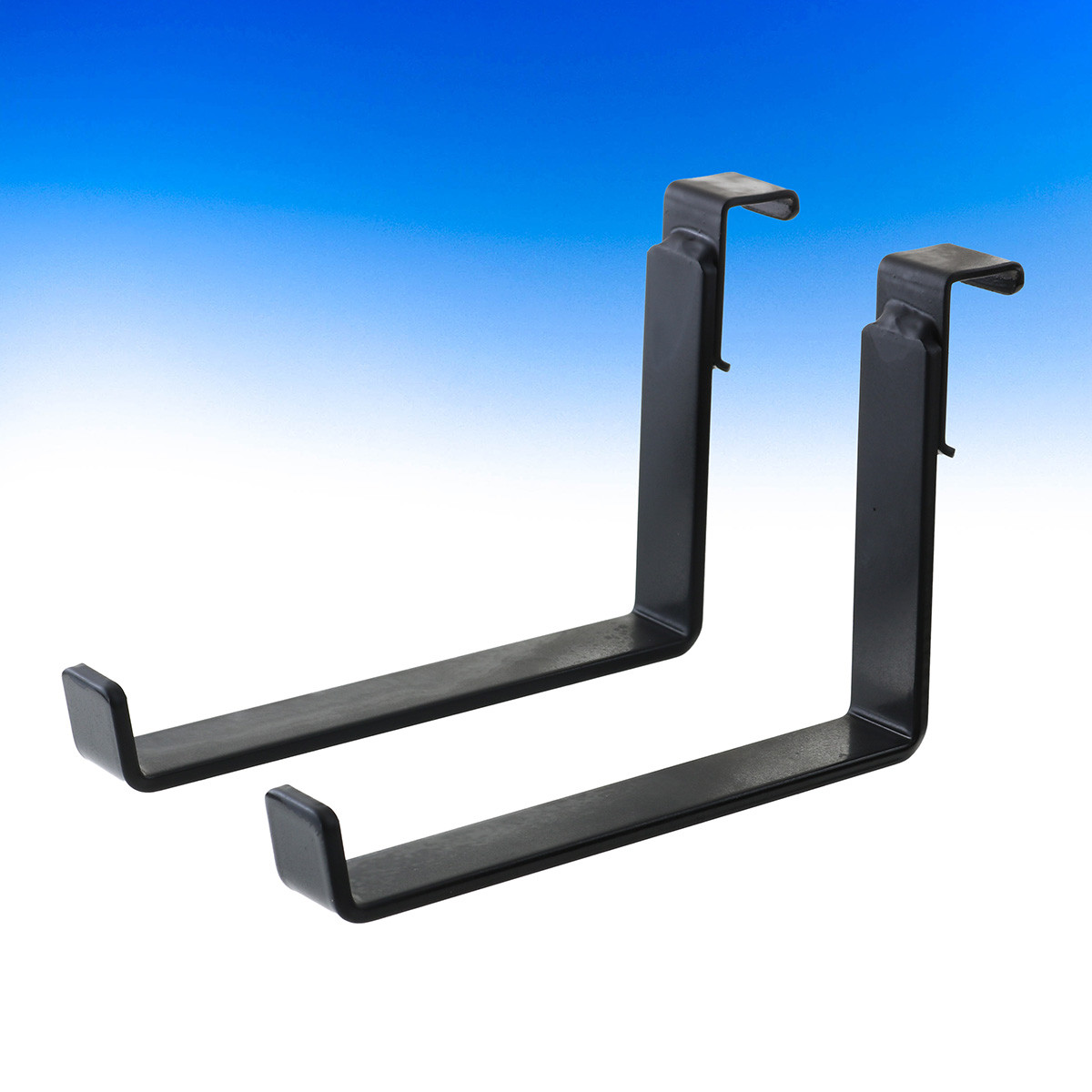 Heavy Duty Brackets by Hold It Mate are secure enough to keep heavy flower boxes in place yet can be moved and reinstalled in minutes.