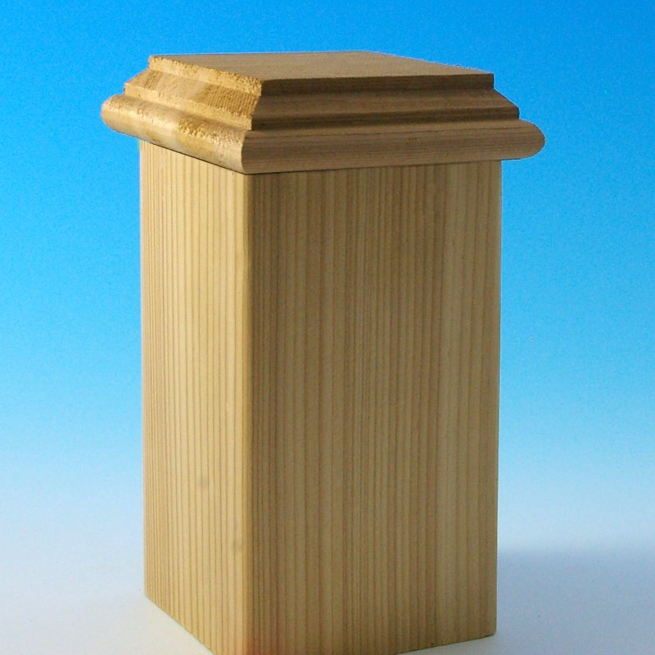 Hatteras Castine Flat Bottom Post Cap by DecKorators - Cedar