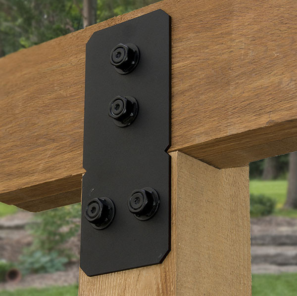 Ironwood Post to Beam Bolt Bracket by OZCO - Flush