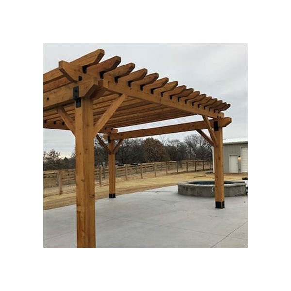 OZCO Project Kit: Ironwood Deck Pergola with 6x6 Posts