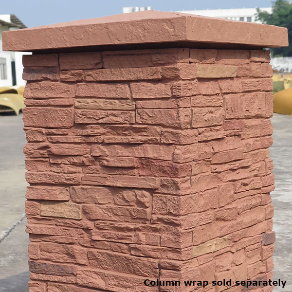 Sandstone Column Cap by NextStone - Red