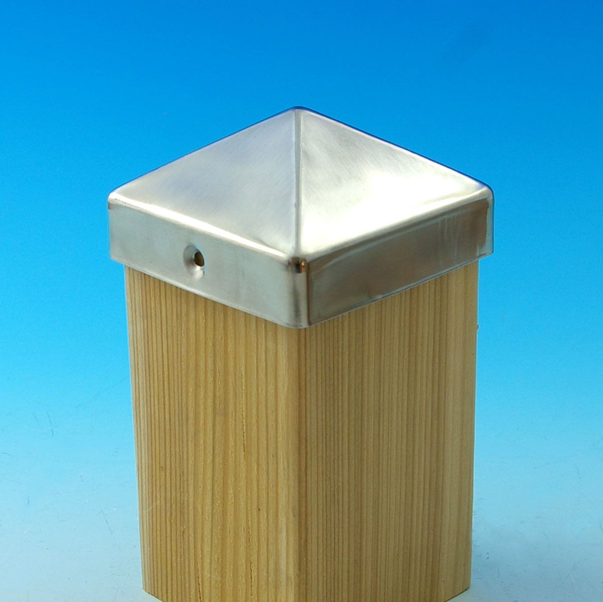 Stainless Steel Pyramid Post Cap-3-5/8 in