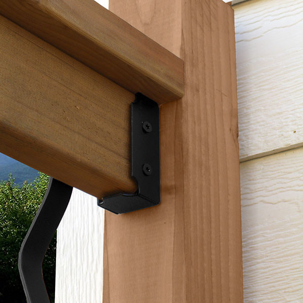 Top Rail Saddle by OZCO Ornamental Wood Ties-installed