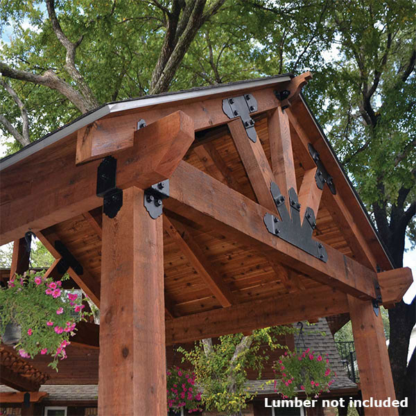 Ozco Project Kit Wood Post Amp Beam Pavilion With 8x8 Posts