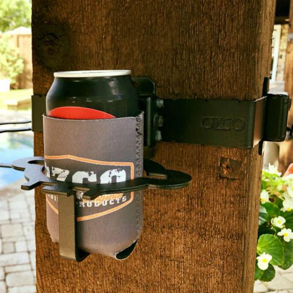 Phone/Beer Holder Hanger Accent by OZCO Ornamental Wood Ties - installed